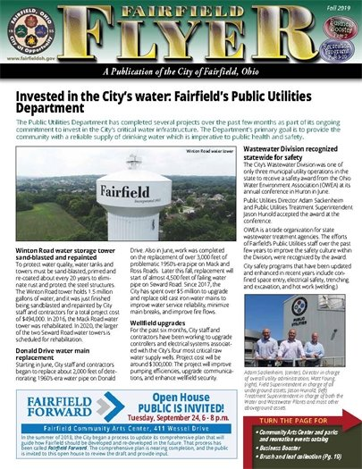 The Fall issue of the Fairfield Flyer is online!