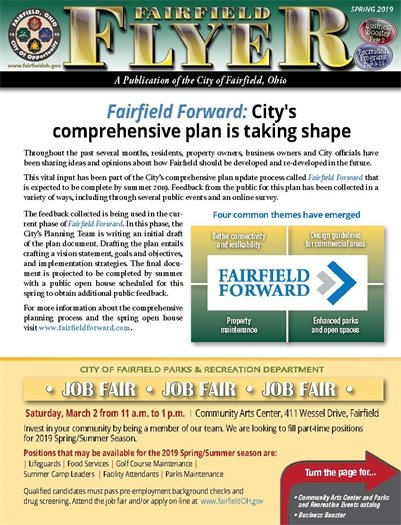 Click here to read the Spring 2019 edition of the Fairfield Flyer