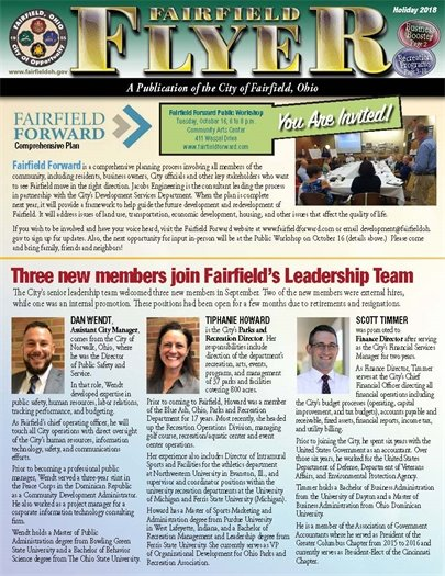 Click here for the newest edition of the Fairfield Flyer, the City's newsletter that is packed with information about events and recreation as well as City and business news.