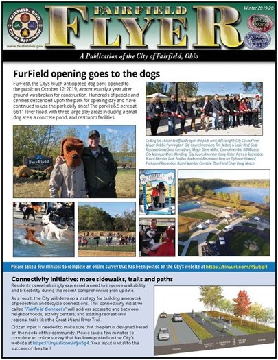 Read the most recent edition of the Fairfield Flyer