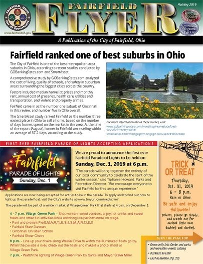 Read the holiday issue of the Fairfield Flyer online now!