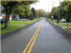 A widened stretch of Gray Road awaits a fresh layer of pavement