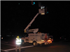 Crews worked late into the night to safely switch traffic onto the new pavement