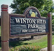 Winton Hills Park sign