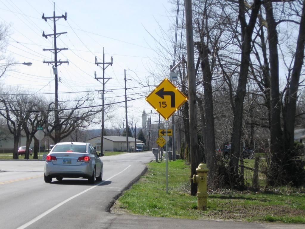LED-illuminated advanced warning signs were installed to alert traffic