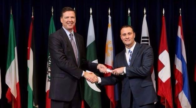 steve maynard fbi academy graduation with dir comey