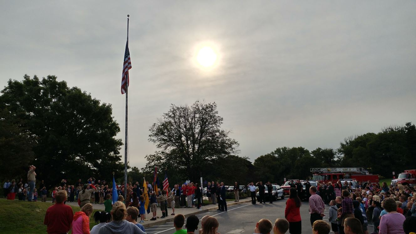 flag ceremony south elem 9-11-17