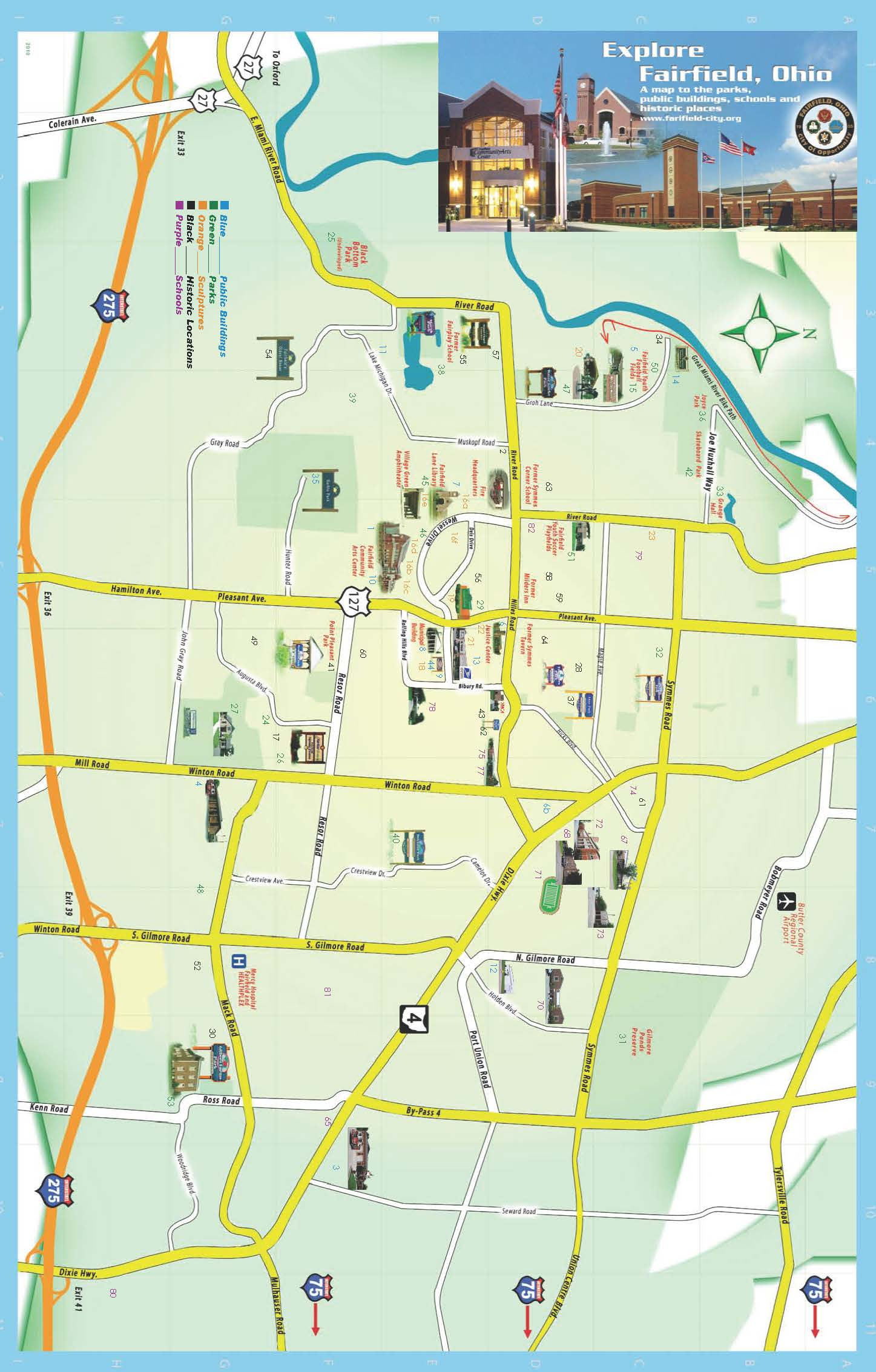 Explore Fairfield Map pg 1