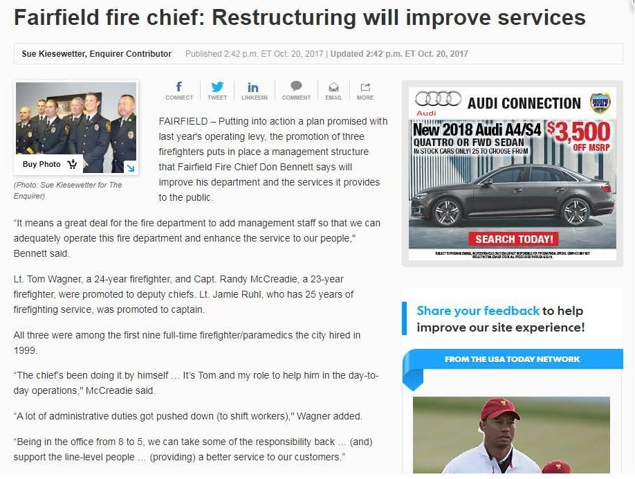 fire dept restructuring cincinnati enquirer