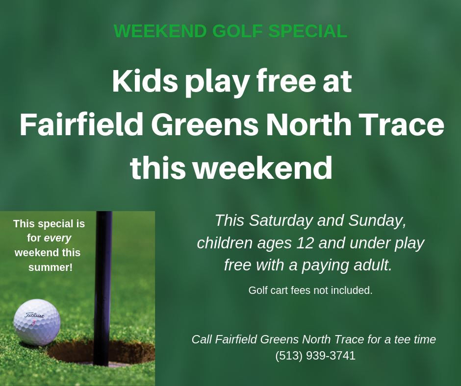 golf special kids play free weekend