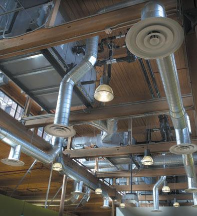 Image of HVAC System on Ceiling