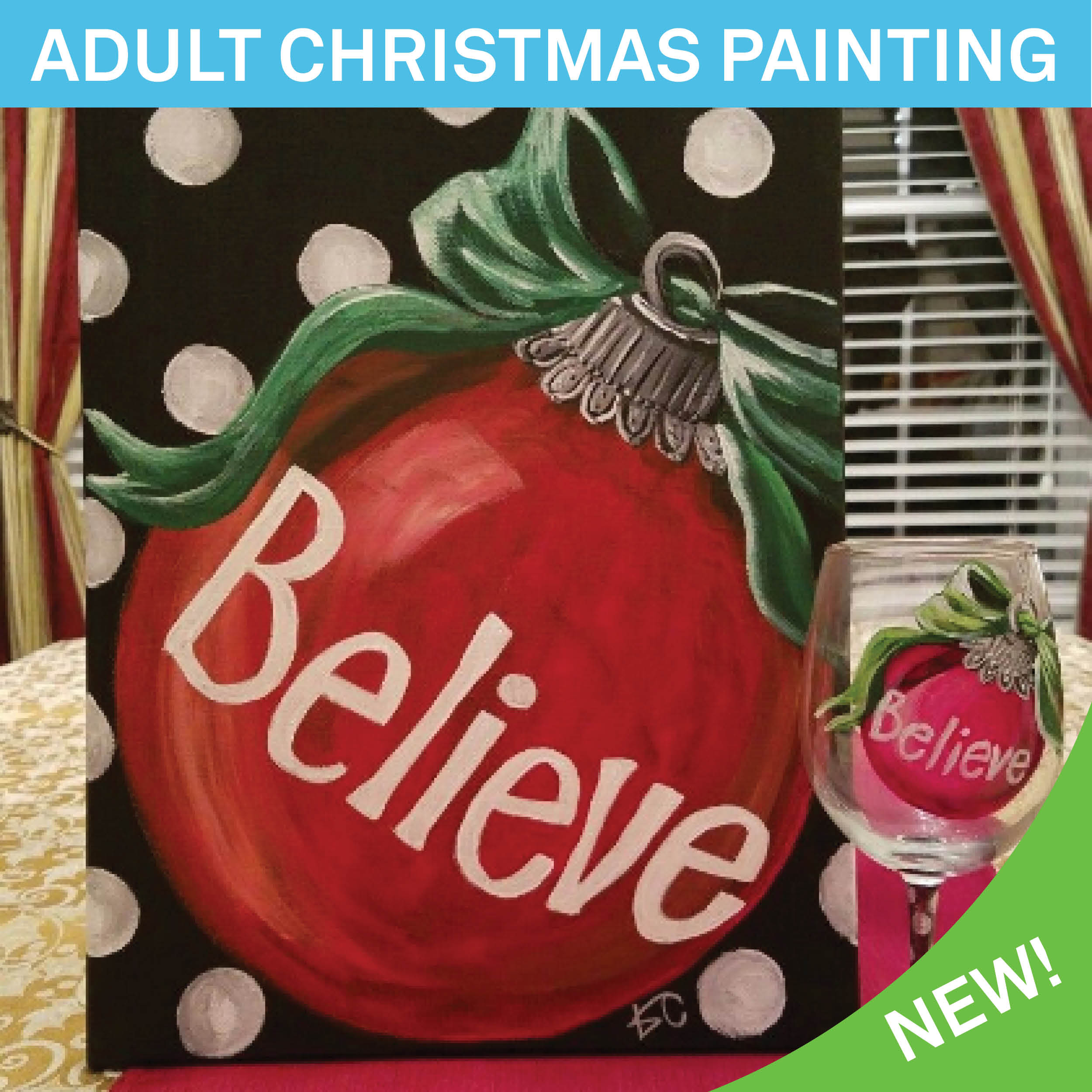 adult christmas painting