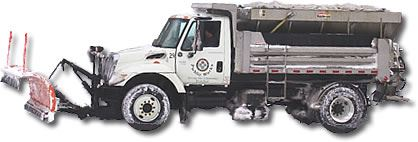 Cartoon sketch of snow plow