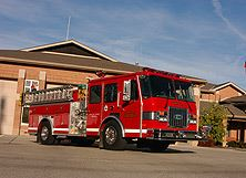 Fire Apparatus Outside Station 32